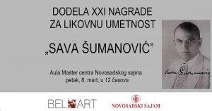 """DODELA  21. NAGRADE """"SAVA ŠUMANOVIĆ"""" ZA LIKOVNU UMETNOST"""